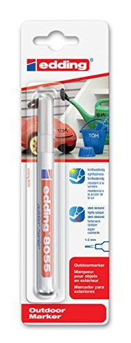 edding Lackmarker Outdoor marker 8055 Organisieren & Beschriften zu Hause, 1-2 mm, weiß