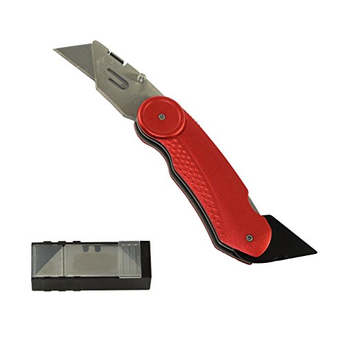 Hardened Steel Knife (Superior Tool 37517 Plumbers Knife-Stainless Steel Body and Anodized Aluminum Handled Knife with Additional Hardened Steel Reamer Blade for Copper and PVC Tubing)