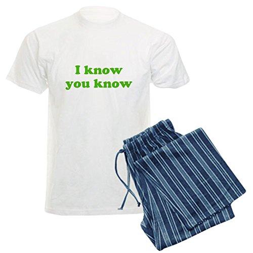 CafePress - I Know You Know - Unisex Novelty Cotton Pajama Set, Comfortable PJ Sleepwear