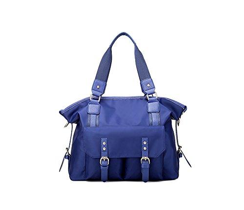 Bolsos del nilón del paquete de la mam3a de la manera forman la bolsa de hombro de la capacidad grande del bolso de tela de Oxford ( Color : Purple ) Azul