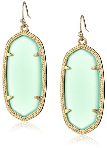 "Kendra Scott ""Signature"" Elle Gold plated Chalcedony Glass Drop Earrings 41ZcqLef5xL"