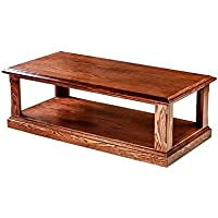 Forest Designs FD-2140- MR-GO Mission Cocktail Table, 48 W x 16 H x 24 D, Golden Oak