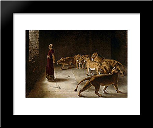 Daniel's Answer to the King 20x24 Framed Art Print by Briton Riviere