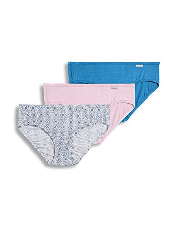 Jockey Women's Underwear Supersoft Bikini - 3 Pack, soft pink/artic breeze, 7
