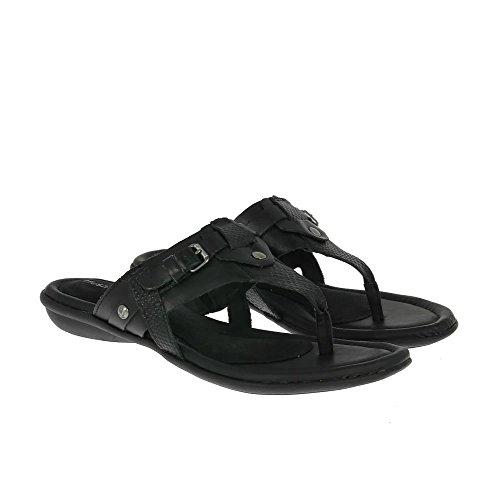 Hush Puppies Women's Sandals Oni Nishi Black Leather UK5 Black