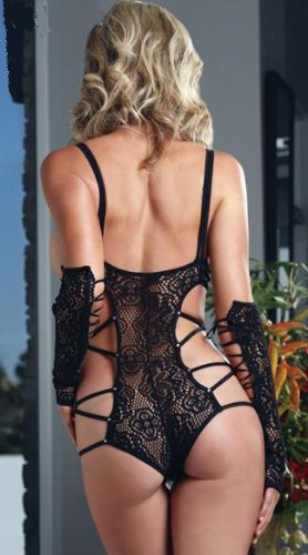 13f6a7c341b Amazon.com  Angel Me Super Sexy Adult Black lace revealing see-through  lingerie 1032Black  Health   Personal Care