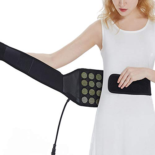 UTK Infrared Jade Back Heating Pad, Heating Wrap for Cramps Pain Relief - Far Infrared Therapy Waist Belt for Thigh, Lumbar, Stomach Pain, EMF Free, Auto Off, Smart Controller