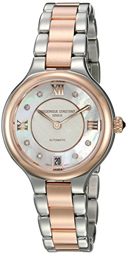 Frederique Constant Women s Delight Automatic-self-Wind Watch with Stainless-Steel Strap, Two Tone, 13 Model FC-306WHD3ER2B