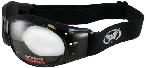 Global Vision Eliminator Motorcycle Goggles (Black Frame/Clear Lens) by Global Vision Eyewear