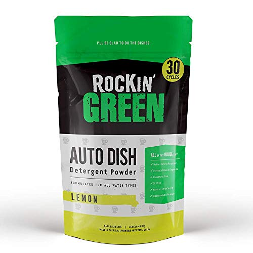 Rockin Green Auto Dish Dishwasher Detergent, 16 oz. - All Natural, Biodegradable, and Eco-Friendly