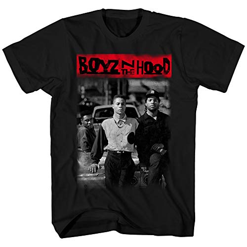 Boyz N The Hood Mens Shirt Poster Tee (Black, Large)