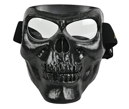 WLXW Mich/Fasthelmet, Masque Complet Skull avec Lunettes et Casque Tactique Rapide/Casque ACH Style Mich 2000 Combiné… 5