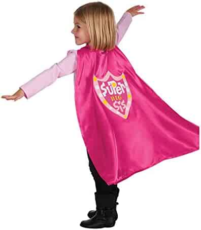C.R. Gibson Pink 'Big Sister' Cape Children's Costume, 3pc, 22'' L