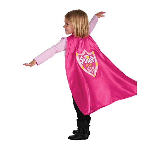 C.R. Gibson Pink 'Big Sister' Cape Children's Costume, 3pc...