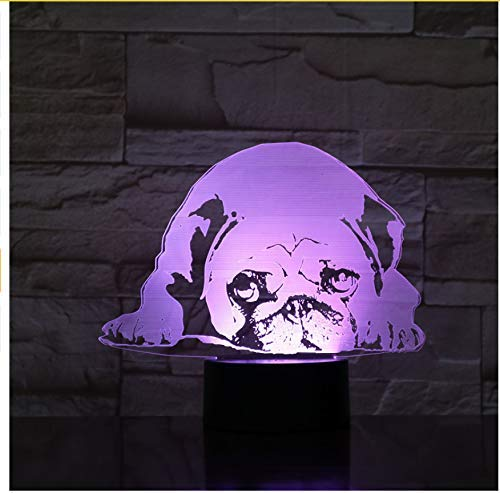 OVIIVO Creative Table Lamp Desk Lamp 3D Night Light Cute Dog Model Toy 3D Night Lamp Led Light Kids Hobbies Using for Reading, Working by OVIIVO (Image #7)