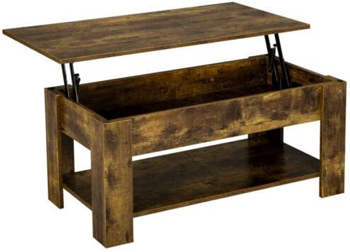 Amazon Com Rustic Lift Top Coffee Table W Hidden