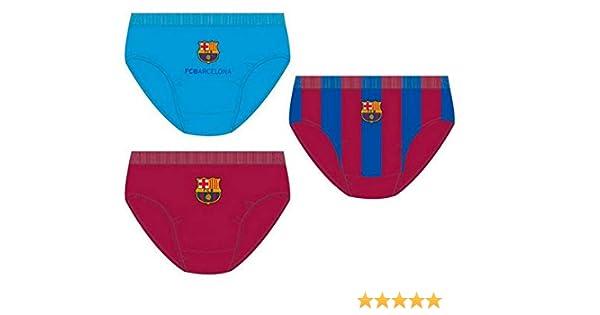 Pack 3 calzoncillos slip en caja regalo de FC Barcelona: Amazon.es ...