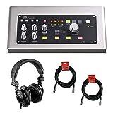 Steinberg UR28M USB 2.0 Digital Audio Interface with Polsen HPC-A30 Studio Headset & 20' XLR Cable Bundle