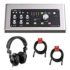 Steinberg UR28M USB 2.0 Digital Audio Interface with Polsen HPC-A30 Studio Headset & 20′ XLR Cable Bundle