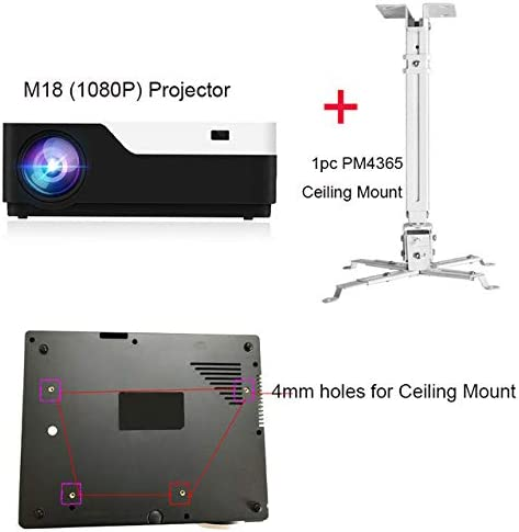 1080P Full HD 3D Home Theater Projector 5500 Lumen LED Video