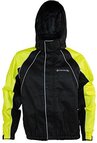 COMPASS RT23322-5510-XX Roadhog Reflective Riding Jacket, HV Lime/Black, XX-Large ()