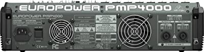 Behringer Europower PMP4000 Powered Mixer - 16 Channels, 1600 Watts with Multi-FX Processor and FBQ Feedback Detection System from Behringer