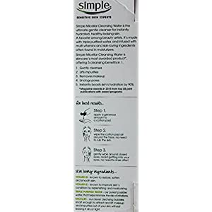 Simple Micellar Cleansing Water, 3 Bottles: 13.5, 6.7 & 1.9 fl oz