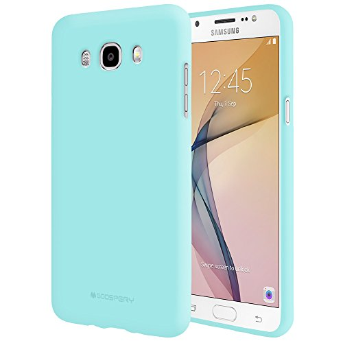 Galaxy J7 2016 Case with Screen Protector [Slim Fit] Mercury Soft Feeling Jelly [Flexible] Rubber TPU Case [Lightweight] Protective Cover for Samsung Galaxy J7 2016 (Mint) J72016-SFJEL/SP-MNT