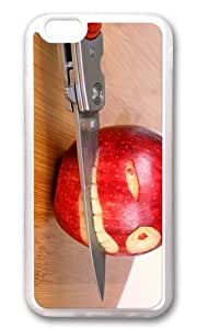 MOKSHOP Adorable Funny Apple Knife Soft Case Protective Shell Cell Phone Cover For Apple Iphone 6 Plus (5.5 Inch) - TPU Transparent