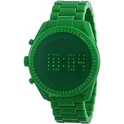 o.d.m watch Castelbajac design model PHANTIME digital display 5 ATM water resistant shiny green JC06-5 Men's [regular imported goods]