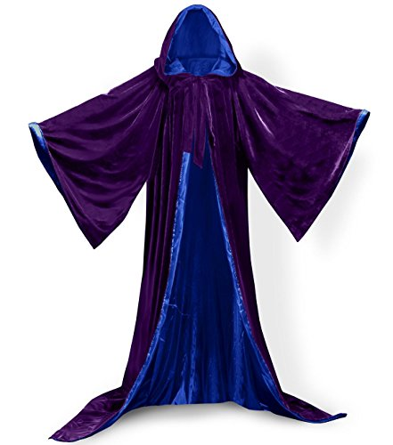 Purple Wizard (ANGELWARDROBE Wizard Robe Purple Blue 1XL)