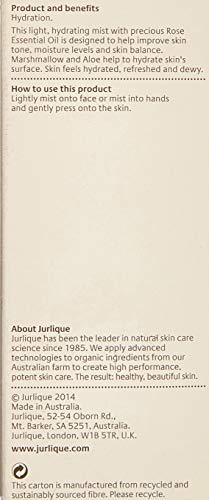 Jurlique Rosewater Balancing Mist - 1.7 oz- Organic Botanical Ingredients - Antioxidants Boost this Natural Face Toner - Moisturizes Normal/Combination Skin