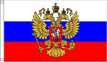 5 ft x 3 ft 150 x 90 cm + AIGLE Russie Drapeau Russe tissu 100/% Polyester