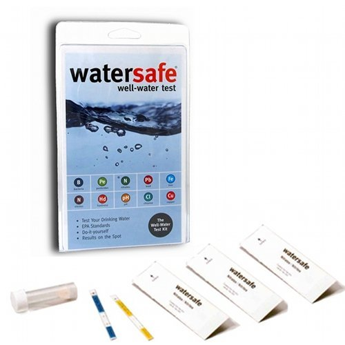 (WaterSafe Well Water Test Kit - for Drinking Water in Home Tap and Well Water | Simple Testing Strips for Lead, Copper, Bacteria, Nitrate, Chlorine, and more | Made in the USA to EPA Standards)