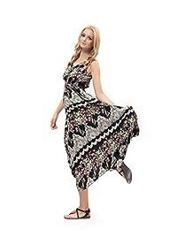 DILANNI Woman's Bohemian Summer Strap Long Maxi Dress Plus Size
