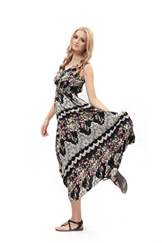 Abs Evening Dresses (Dilanni Women Summer Beach Dress Sexy Sundress Long Evening Party Dress (Large,Color 7))