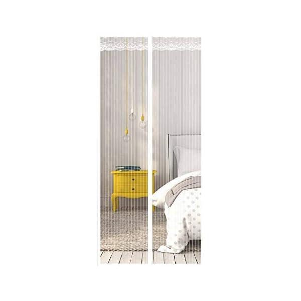 Zanzariera Magnetica per Porte, Ventilazione Anti-zanzara Muta Bianca Velcro Tenda Porta Adatto per Balcone Soggiorno… 1 spesavip