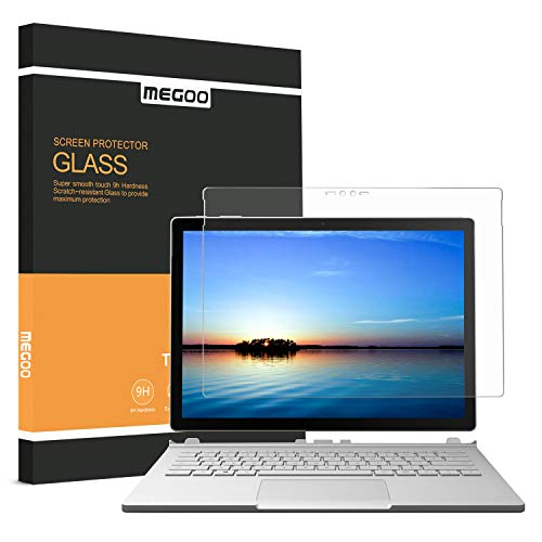 (Megoo Surface Book Screen Protector, [Tempered Glass ] Anti-Scratch,Explosion-Proof, Protector for Microsoft Surface Book-13.5 Inch)