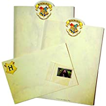 Hogwarts Parchment Letter Writing Kit: 2 Sheets, 1 Envelope, 1 USPS Harry Potter Postage Stamp