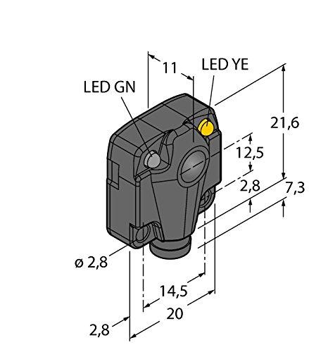 3044755 - q10rp6rq, Opto sensor desechable Barrera de luz (Receptor) miniatura Sensor: Amazon.es: Industria, empresas y ciencia