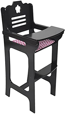 Naomi Kids Doll High Chair Espresso - Doll Furniture High Chair