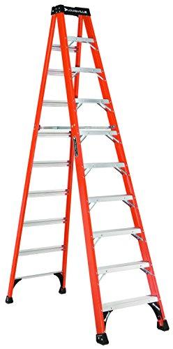 Louisville Ladder 10-Foot Fiberglass Step Ladder, 375-Pound Capacity, FS1410HD