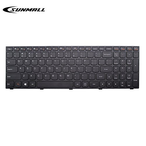 SUNMALL b50 Keyboard for Lenovo Laptop Keyboard Replacement with Frame for Lenovo LdeaPad Flex 2 15 B50 B50-30 B50-45 B50-70 B50-80 B51-80 G50 G50-30 G50-45 G50-70 G50-80 G50-75 Z50 US Layout