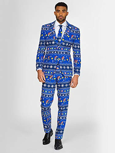 OppoSuits Christmas Suits for Men in Different Prints - Ugly Xmas Sweater Costumes Include Jacket Pants & -