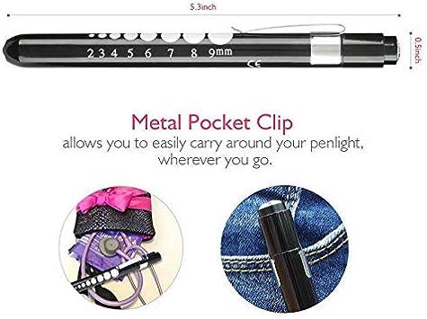 1 pack violet Mini lampe torche /à stylo BE-TOOL Diagnostic m/édical Mini lampe torche LED r/éutilisable pour la maison ou lext/érieur M/édecin infirmi/ère EMT durgence