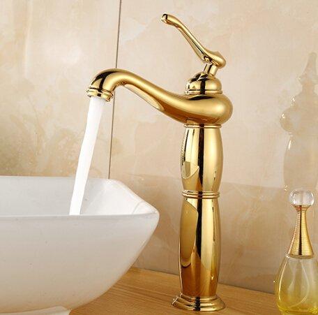 5151buyworld Gold hochwertig Wasserhahn Badezimmer, Wasserhahn, Heiß und Kalt Waschen Waschbecken Wasserhahn Mixer Küche Waschbecken Wasserhahn Mixer-tapfor Home gaden, Chrom