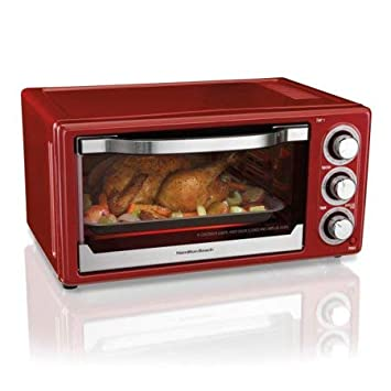 Hamilton Beach 6 Slice Toaster Convection Broiler Oven Red Model 31514