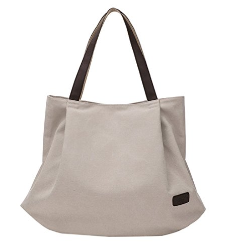 Pb Shopper Handbag Bag Style Colours Available Shoulder Totes 5 Canvas Women's Hobo Simple grey Creamy White Vintage Bag soar Ywr8vqY