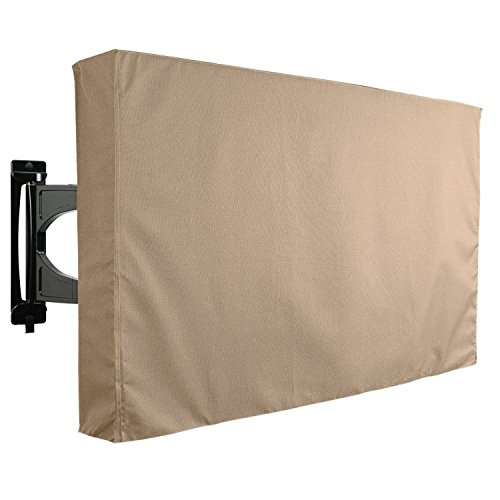 KHOMO GEAR Outdoor TV Cover, Brown Universal Weatherproof Protector for 60'' - 65'' TV - Fits Most Mounts & Brackets by KHOMO GEAR