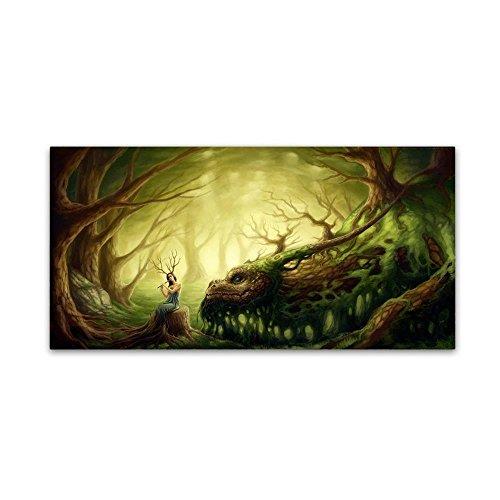 Forgotten Fairytales by JoJoesArt, 12x24-Inch Canvas Wall Art